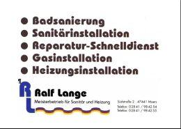 Ralf Lange Sanitäranlagen und Heizungsbau