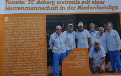 TC Asberg erstmals mit einer Herrenmannschaft 65 in der Niederrheinliga